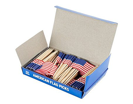 custom toothpick flags