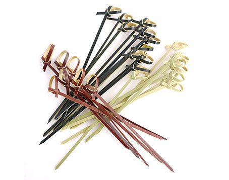 knotted bamboo skewers wholesale
