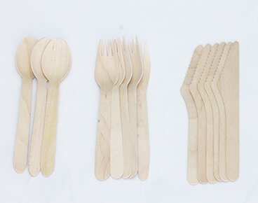 14cm Disposable Wooden Cutlery Wholesale