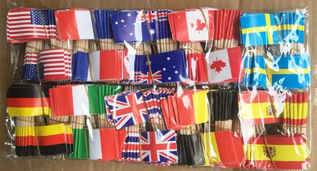 Custom Toothpick Flags manufacturer