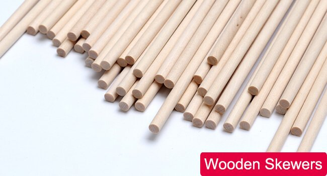wooden skewers cross section
