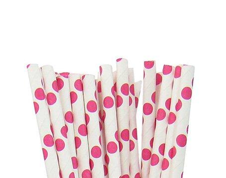 Big Polka Dot Paper Straws Manufacturer