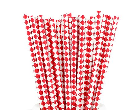 Diamond and Check Paper Straws Manufacturer
