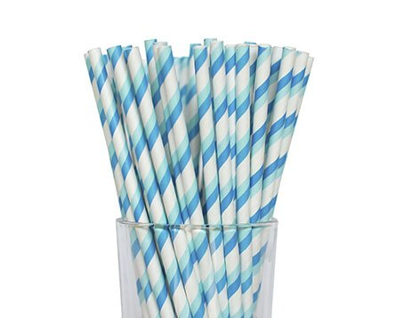 Double Striped Paper Straws Manufacturer