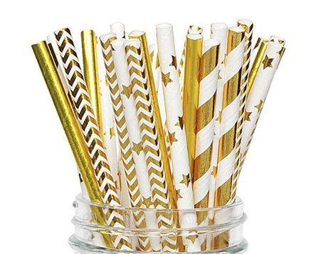 Gold Foil Paper Straws Manufacturer