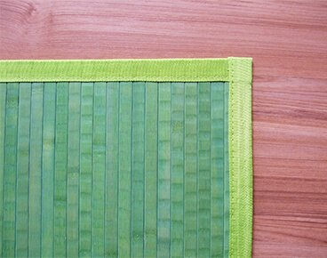 Green Color Bamboo Carpet Manufacturer