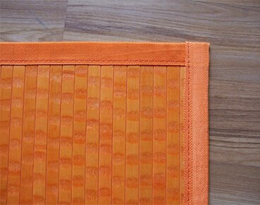 Orange Color Bamboo Carpet Manufacturer