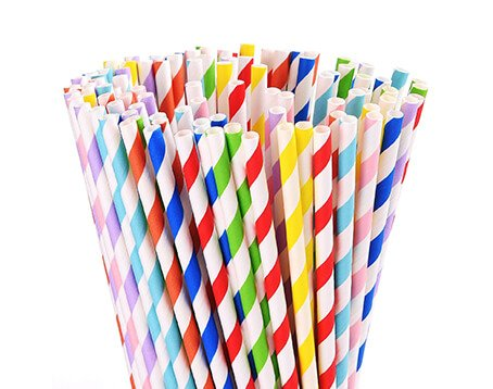 Striped Paper Straws Manufacturer