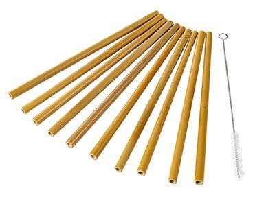 Yellow Bamboo Straws Wholesale