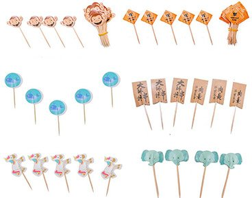 Custom Cupcake Toothpick Flags