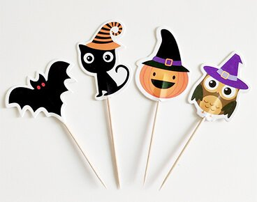 Custom Hallowmas Style Toothpick Flags