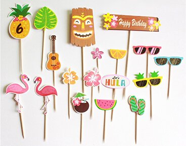 Custom Hawaii Style Toothpick Flags