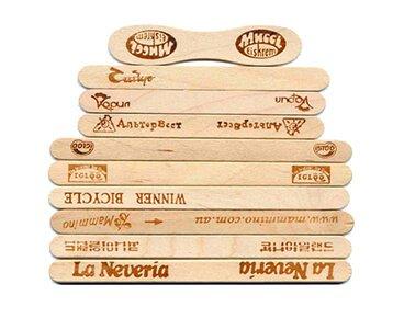 Custom Wooden Popsicle Sticks