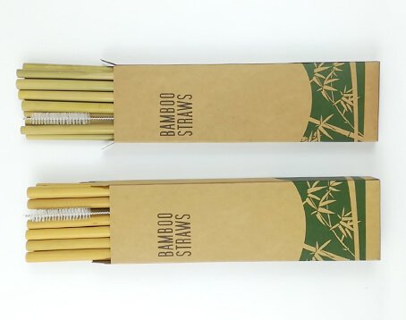 paper box packed bamboo straws manufacturer